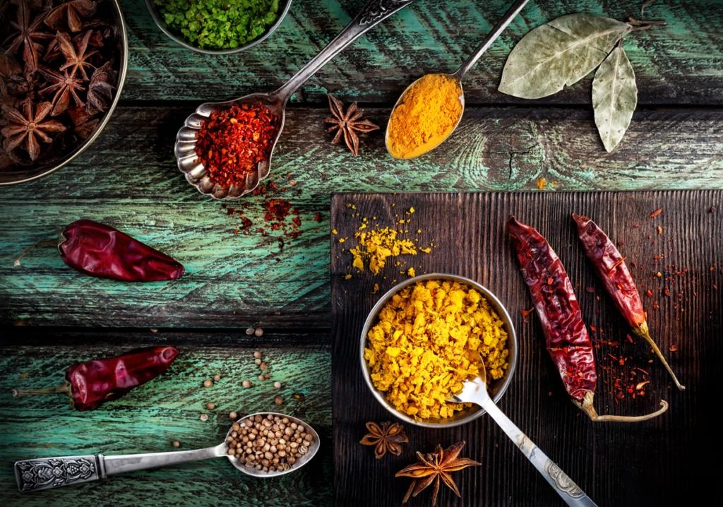 Zutaten der türkischen Küche
